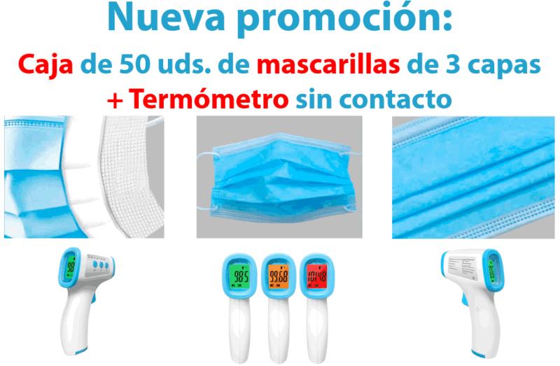 nueva oferta mascarillas con termómetro